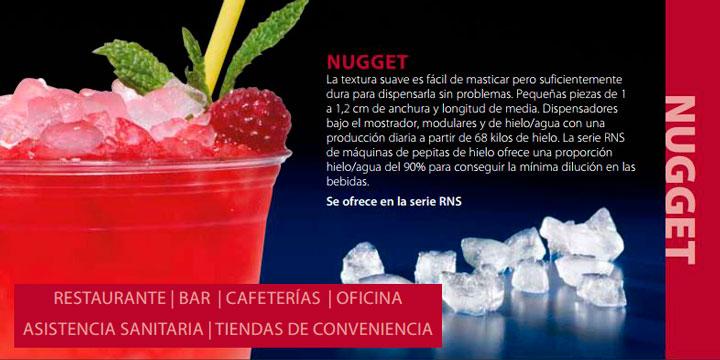 fabricación cubito hielo nugget
