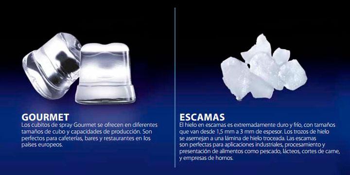 hielo gourmet escamas