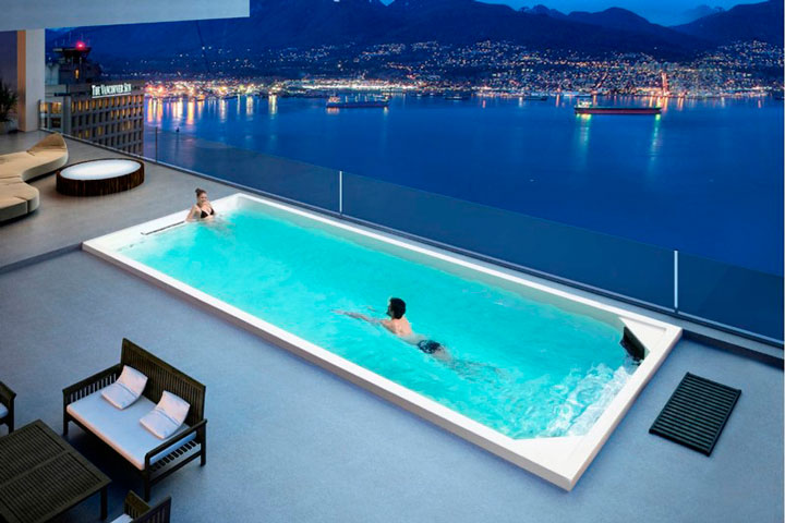 swim spa exterior