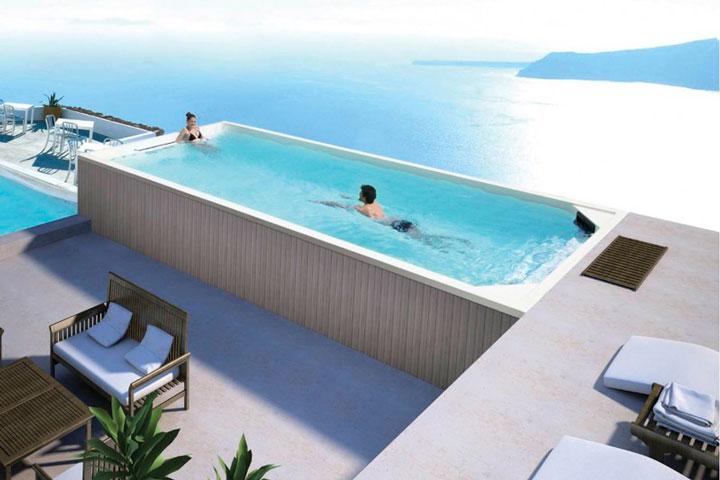 Piscina de hidromasaje y natación contracorriente Swim Spa